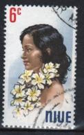 Niue 1971 Single 6c Stamp Taken From The Portrait Series. - Niue