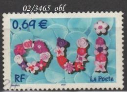 FRANCE ANNEE 2002 N° 3465    OBLITERE - France