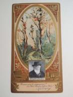 CHROMO  Art Nouveau. Collection Célébrités LU. Lefevre-Utile.Or. Gaufré.HARPIGNIES. Peintre Paysagiste.Ecole De Barbizon - Vieux Papiers