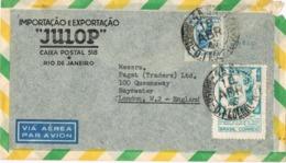 34686. Carta Aerea RIO De JANEIRO (Brasil) 1947.  Importaciones JULOP - Brasil