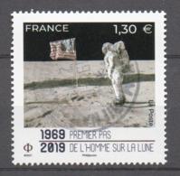 FRANCE 2019 - Timbre - 1969-2019 Premier Pas De L'homme Sur La Lune Oblitéré Cachet Rond - France