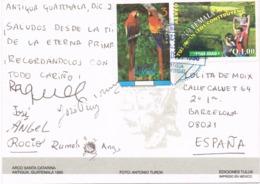 34687. Postal Aerea ANTIGUA GUATEMALA (Guatemala) 1996. Vista Poblacion Colonial - Guatemala