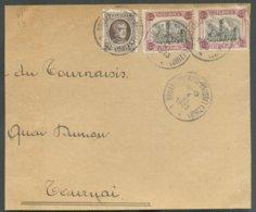 N°182 (paire Du TERMONDE) + 20c. Houyoux Obl. Sc BRUXELLES (MIDI) Sur Devant Du 4-VI-1923 Vers Tournai - 14791 - Bélgica