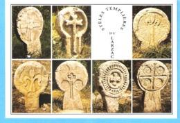 La Couvertoirade (Larzac-Aveyron)-Stèles Discoïdales Du Cimetière Templier-Timbre Grotte De Rouffignac-Peinture Rupestre - La Cavalerie