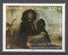 FRANCE 2019 - Timbre Gustave Courbet - Autoportrait Au Chien Noir Oblitéré Cachet Rond - France