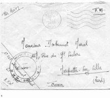 Franchise Militaire: Lettre Affranchie Du Bureau De EL OUED-OASIS (Algérie) - 1956 - Cachets Militaires A Partir De 1900 (hors Guerres)