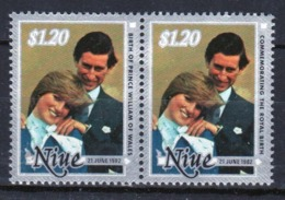 Niue 1982 Two Top Values From The Set For The Birth Of Prince William. - Niue