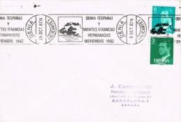 34690. Carta DENIA (Alicante) 1982. Rodillo Especial Jumelage DENIA - MANTES. Ciudades Hermanadas - 1931-Hoy: 2ª República - ... Juan Carlos I
