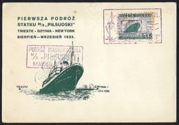 1935 - POLSKA - Card + Michel 303 - Y&T 381 [Pilsudski] + PILSUDSKI - Lettres & Documents