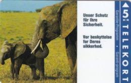 Denmark, KP 017, Elephants,  Mint, Only 2.000 Issued, 2 Scans. - Dänemark