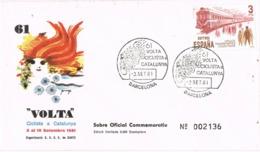 34692. Carta BARCELONA 1981. 61º Volta Ciclista Catalunya. Numerada. Sobre Oficial - 1931-Hoy: 2ª República - ... Juan Carlos I