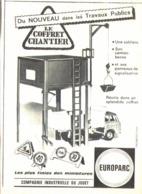 "PUB "" Coffret Chantier "" "" EUROPARC "" 1962 - Advertising - All Brands"