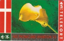 Denmark, KP 022, Phonecard Exhibition 93, Flag, Mint Only 4000 Issued, 2 Scans. - Dänemark