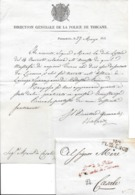 Département Conquis Lettre De Florence 1813 Cachet Dr De La Police Duché Toscane - Documents Historiques