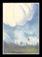 Schweiz-Suisse 28.V.1941: CPI Fondation PRO AERO (Parachute) Zu 35 Mi 395 Yv PA34a Flug Payerne > Buochs (Zu CHF 35.00) - Fallschirmspringen