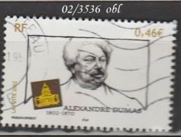 FRANCE ANNEE 2002 N° 3536   OBLITERE - France