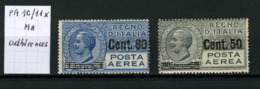 Italie  Poste Aérienne 10/11 X  (adhérences) - Luchtpost