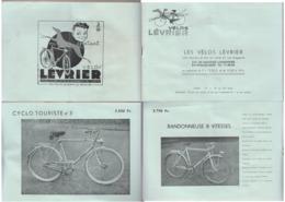 Brochure Publicitaire Vélos Lévrier  Bruxelles - Publicités