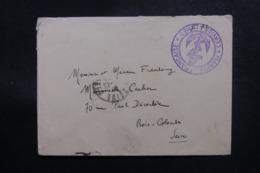 FRANCE - Enveloppe En FM Pour Bois Colombe, Cachet Ancre De Marine - L 47796 - Seepost