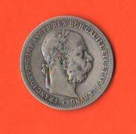 Austria One Crown Kronen 1 Corona 1897 Österreich Rare Date König Franz Joseph - Austria
