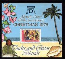 TURKS  AND  CAICOS  ISLANDS    1978    Christmas    Sheetlet    MNH - Turks And Caicos
