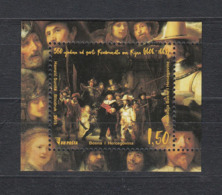 Bosnia 2019 Bosnien Herzegowina 1910 350 Years Since The Death Of Rembrandt Van Rijn - Bosnien-Herzegowina
