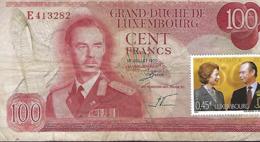 Grand-Duché De Luxembourg  Cent Francs  2 Scans - Luxemburg
