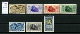 Italie  Poste Aérienne 26 à 31A X  (charnières Légères) Société Dante Allighieri - Luchtpost