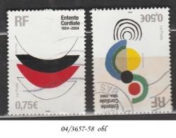 ANNEE 2004 N° 3657-58 OBL - France