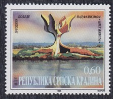 Croatia Republic Of Serbian Krajina 1995 - 50th Anniversary Since Victory Over Fascism, Jasenovac, MNH (**) Michel 36 - Croatie