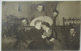 Straßburg Im Elsaß, Soldaten Fächer, Mann Und Frau, Fotokarte 1915 (58746) - Elsass