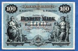 Bayern  -  100 Mark  1 /1/1900  --  état  TB+ - [ 3] 1918-1933 : Repubblica  Di Weimar