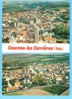Courson-les-Carrières (Yonne)-Multivues-Vue Aérienne ( 2 Vues Aériennes Du Bourg-Mairie)-écrite En 1982 - Courson-les-Carrières