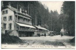 CPA * GÉRARDMER L'Hôtel Et La Station Du Saut Des Cuves ( Avec Le Tramway Au Fond ) - Gerardmer