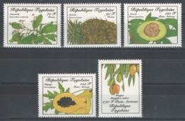 Togo - YT 1194-1195 + PA 602-604 ** MNH - 1986 - Flore - Fruits - Togo (1960-...)