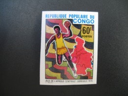 Timbre ND non Dentelé Neuf ** MNH - Imperf   Jeux De L'Afrique Centrale Handball Congo  N° 441 - Balonmano