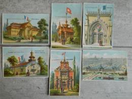 LOT DE 6 CHROMOS     EXPOSITION UNIVERSELLE PARIS 1878      SIAM MINISTERE TRAVAUX PUBLICS EAUX FORETS DANEMARK PORTUGAL - Chromos