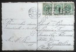 Italia Regno 1924 Tipo Leoni Su Cartolina Annullo Targhetta Rinascente - Ohne Zuordnung