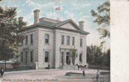 Postcard - Maine, Customs House & Post Office, Bath - No Card No.. Unused Very Good - Cartes Postales