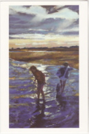 Postcard - Art - Francis Bowyer - Last Shrimp At Dusk, Walberswick - VG - Cartes Postales