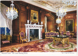 Postcard - Warwick Castle - The Cedar Drawing Room - Posted 27-08-1969 - Card No.2WK6 - VG - Cartes Postales