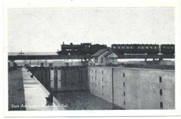 Tiel Train Eisenbahn Amsterdam-Rijnkanaal Sluis Lock écluse Dampf Railway Stoomtrein Chemin De Fer Dampf Betuwe 1952 - Tiel