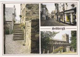 Postcard - Sedbergh, Cumbria - 3 Views - Card No. Dales 017 - VG - Cartes Postales