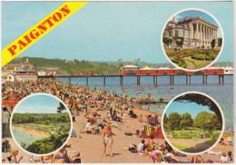 Postcard - Paignton - 4 Views - Card No. 2DC 1077 - VG - Cartes Postales