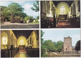 Postcard - All Saints Church, Clovelly, North Devon - 4 Views - VG - Cartes Postales