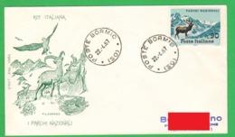 Parchi Nazionali FDC Filagrano Annullo Bormio 1967 Da Lire 90 National Park - 6. 1946-.. Republic