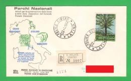 Parchi Nazionali FDC Annullo San Felice Circeo Latina 1967 Lire 170 Raccomandata National Park - 6. 1946-.. Republic