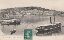 Hérault - SETE - CETTE - Le Port Et La Ville - Sete (Cette)