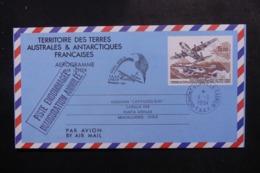 """T.A.A.F. - Aérogramme Pour Le Chili En 1994, Cachet """"  Piste Endommagée Inauguration Annulée """" - L 47807 - Enteros Postales"""
