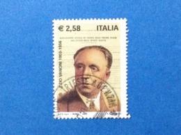 2003 ITALIA FRANCOBOLLO USATO STAMP USED ECONOMISTA POLITICO EZIO VANONI - 6. 1946-.. Republik